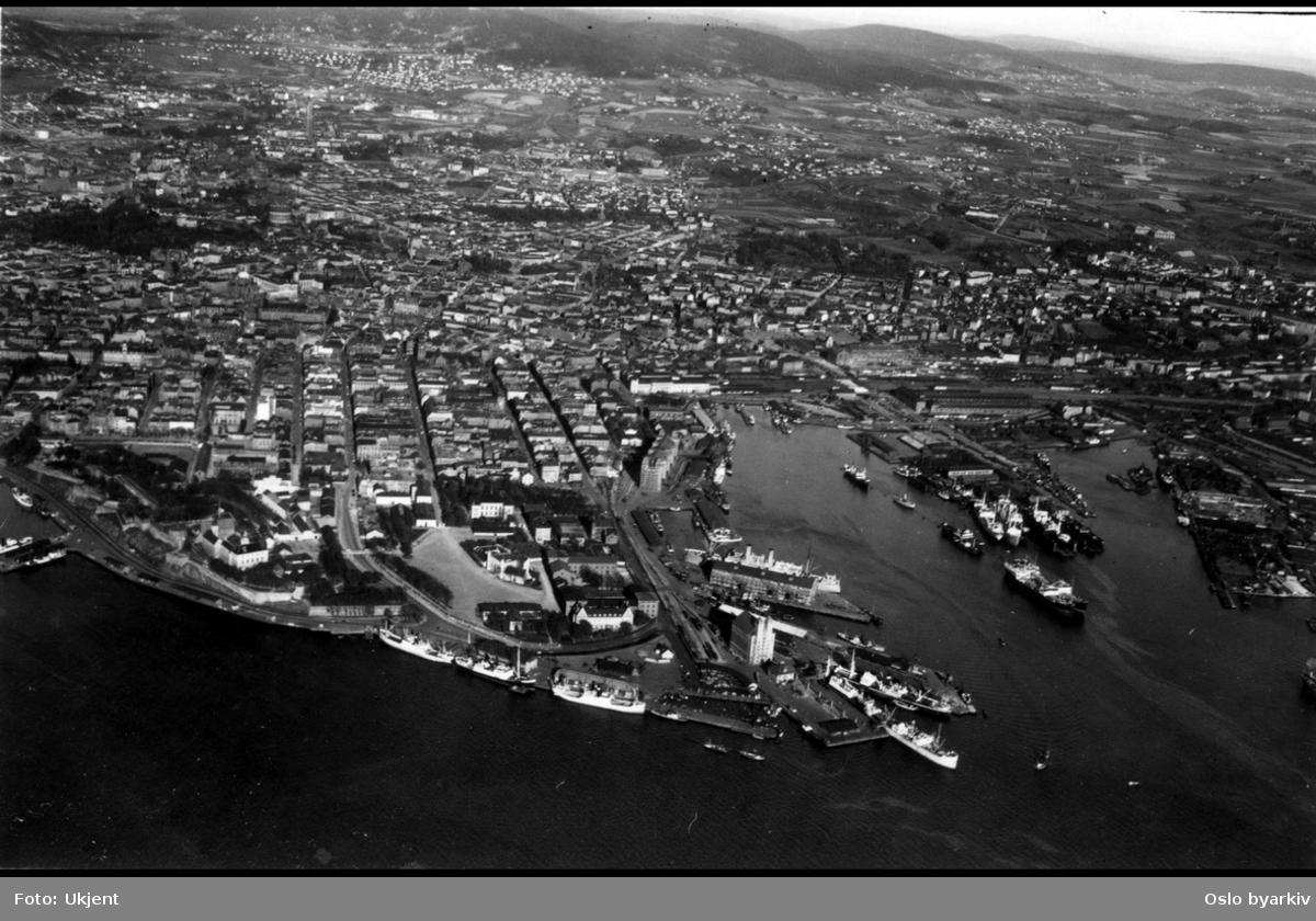 Flyfoto over Oslo øst, vippetangen