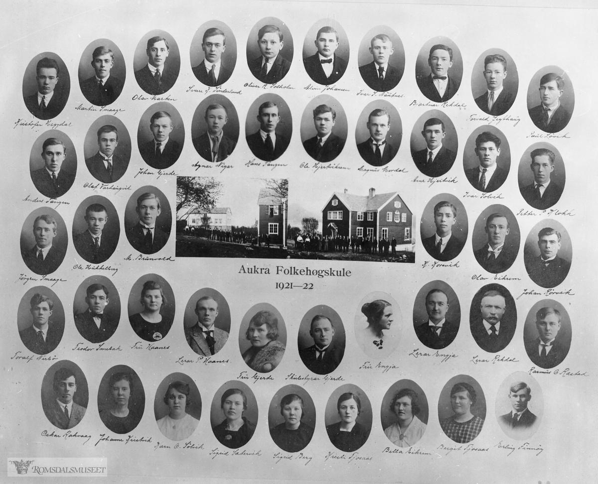 Aukra Folkehøyskole 1921-22