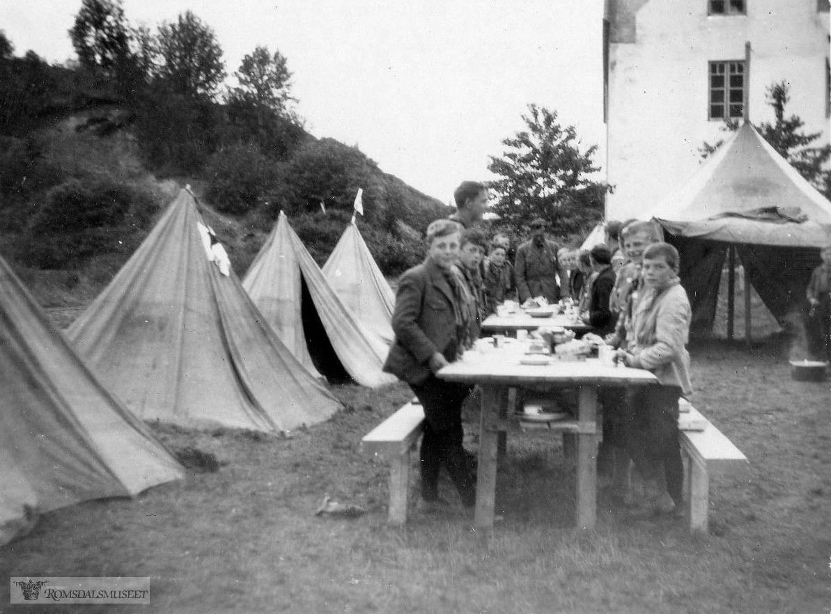 Speidernes landsleir på Åndalsnes i 1928.