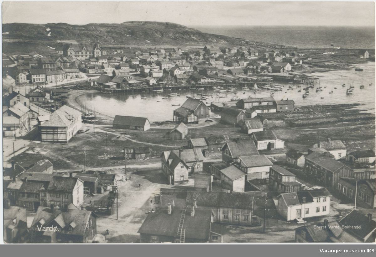 Postkort, bebyggelse rundt Søndre Våg