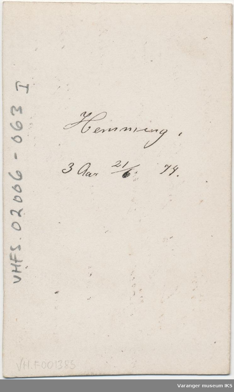 Portrett, Hemming Lauritz Brodtkorb, 1874