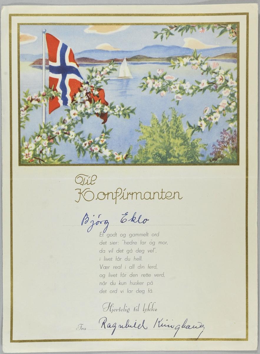 Sjømotiv med det norske flagg.