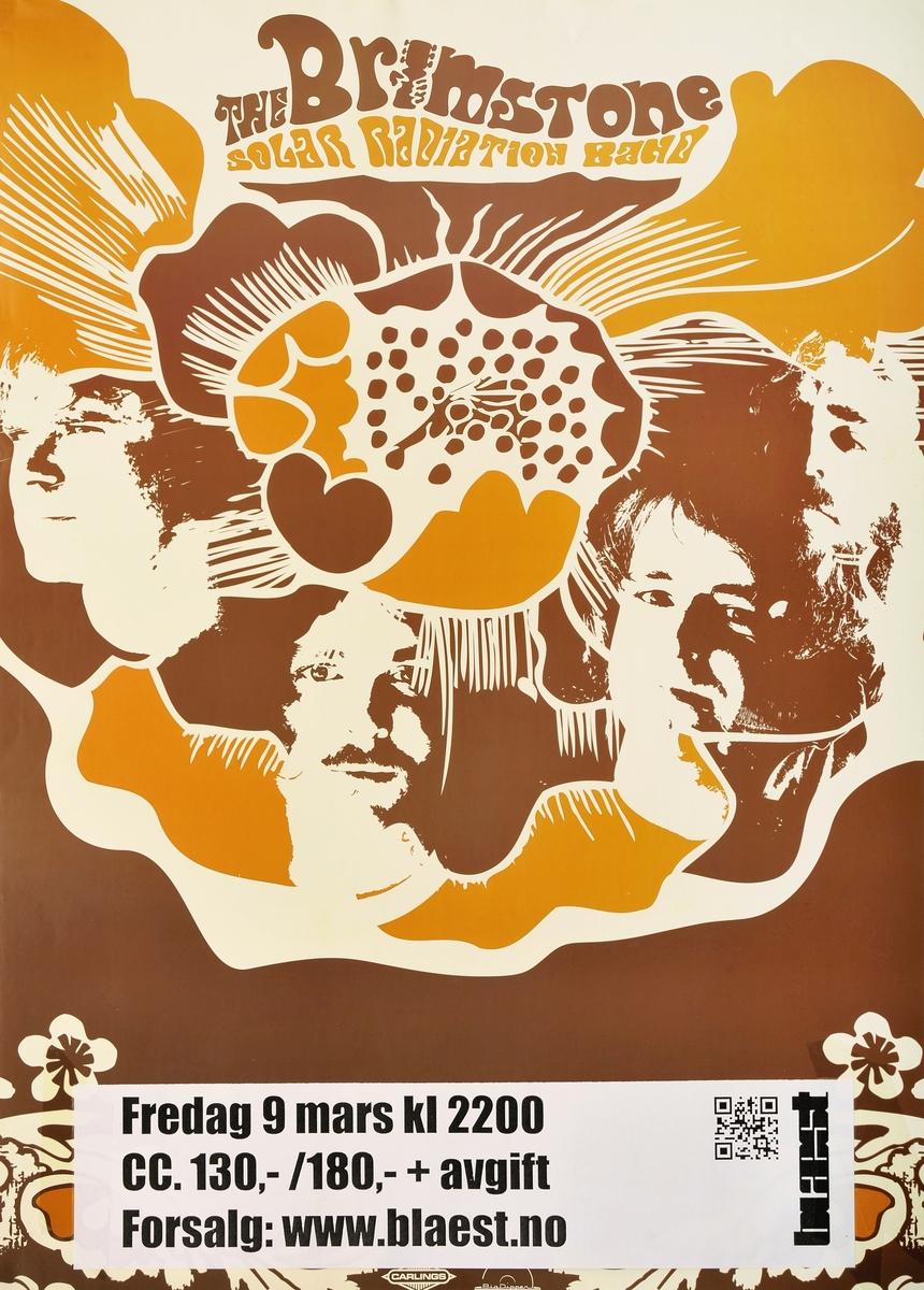 'Streamer' med konsertinfo (Blæst 09.03.2012) påklistret nede på plakaten.