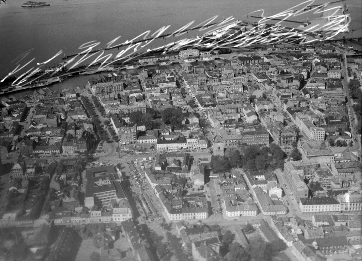 Trondheim sentrum sett fra lufta