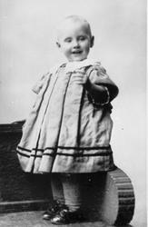 Kirsten Flagstad ett år gammel. 1896. Kirsten Flagstad one y