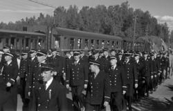 JERNBANENS DAG 12. JUNI 1949. OPPTOG LANGS NORDVIKVEIEN, , J
