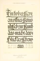 Die Moderne Schrift. Eine Sammlung neuer Schriften und Schil
