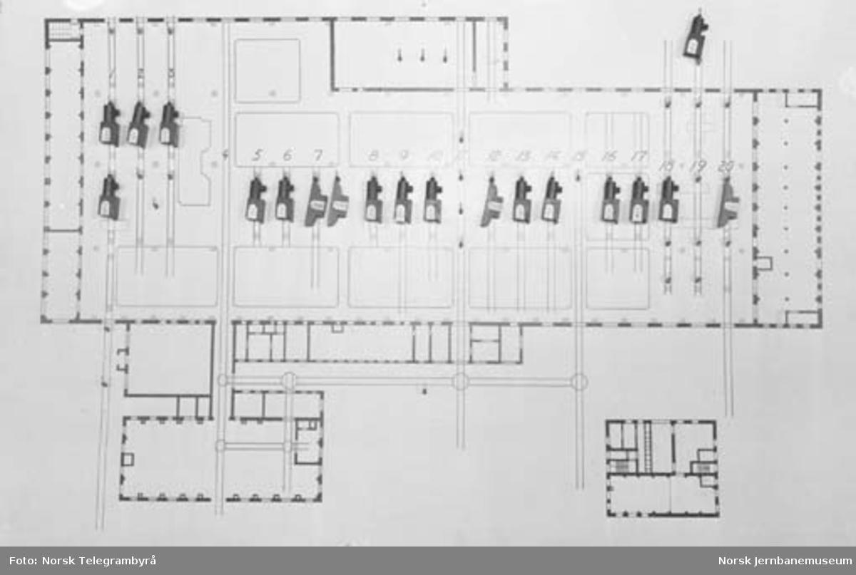 Et moderne verksted : plan over verkstedet