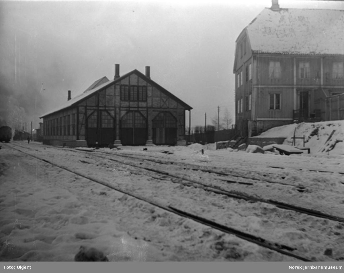 Malerverkstedet etter flytting : Østfoldbanens lokomotivstall