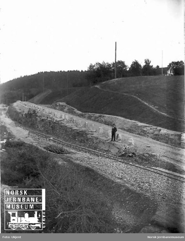 Skjæring for godssporet ved Nygård