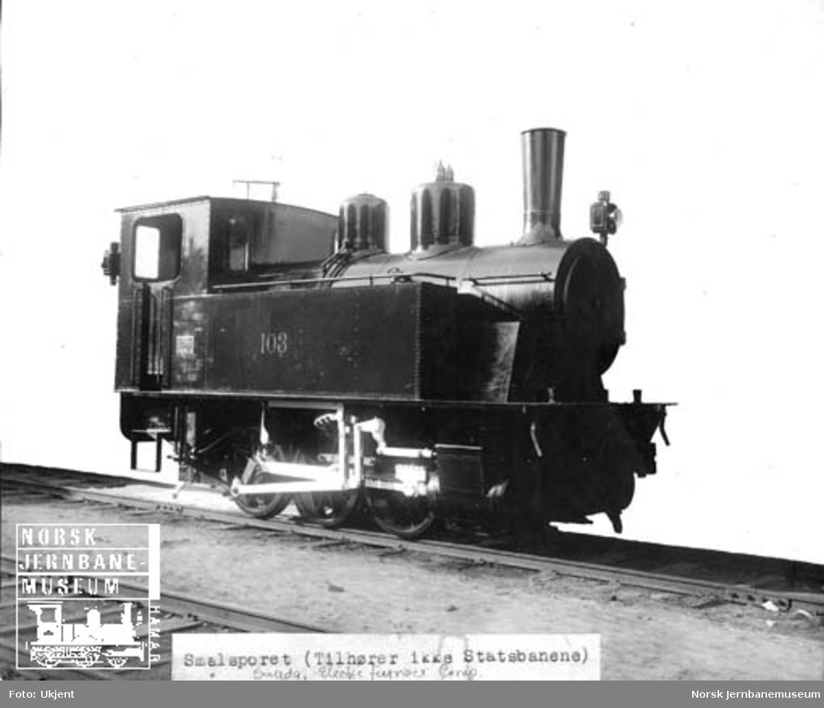 Leveransefoto av Electric Furnace Products Companys damplokomotiv nr. 103