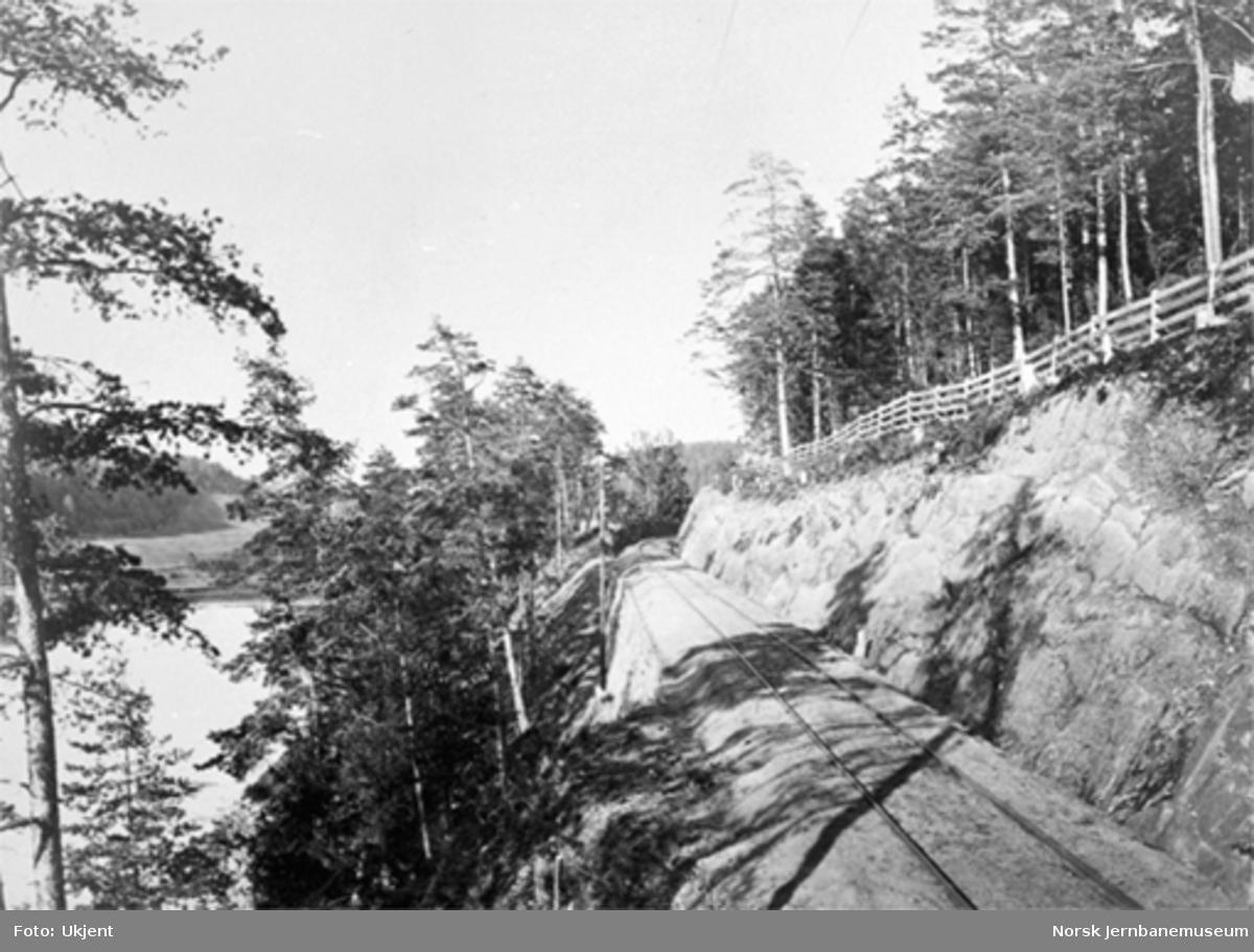 Jernbanen langs Engervannet, km 12,20