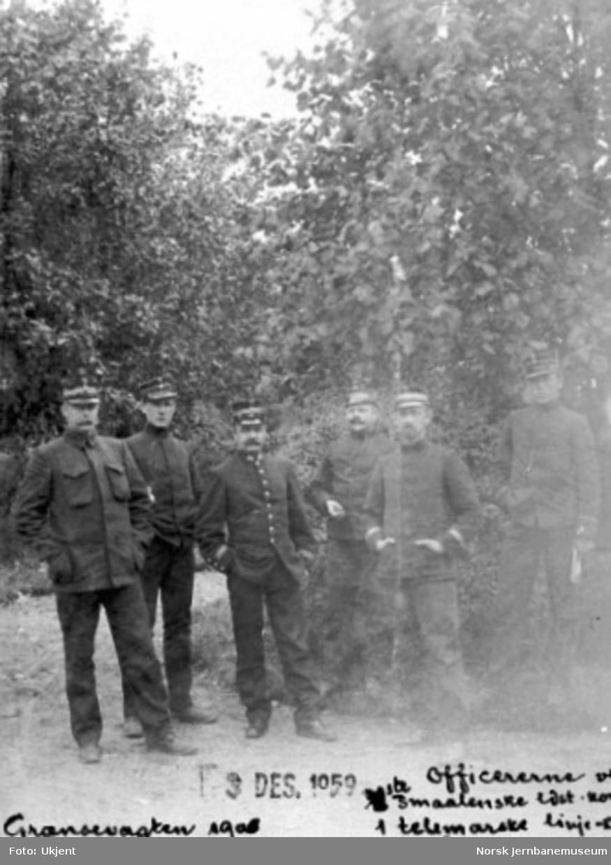 Offiserer fra grensevakten på Prestebakke stasjon
