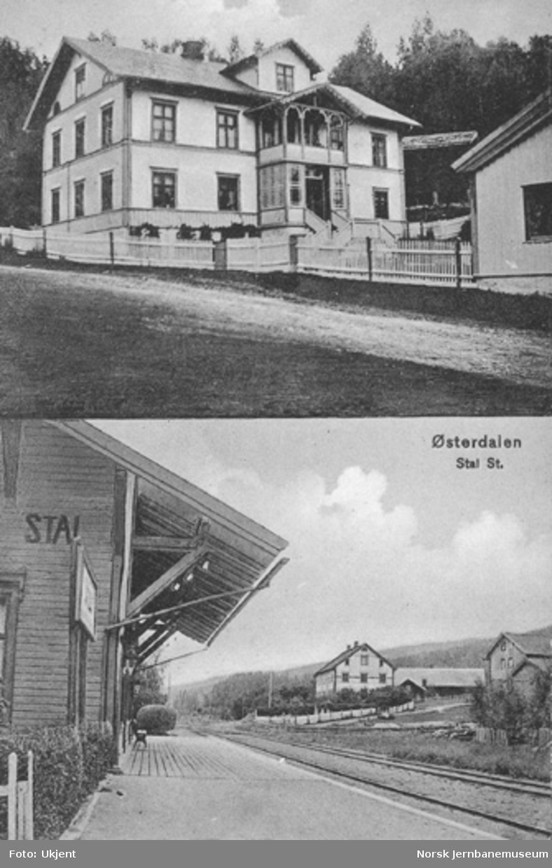 Stai stasjon : todelt postkort