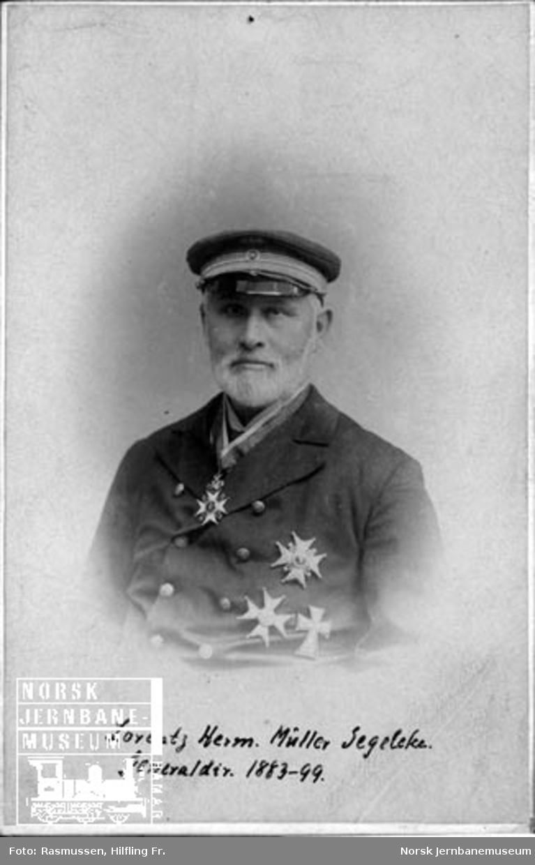 Portrett av NSBs generaldirektør Lorentz Henrik Müller Segelcke