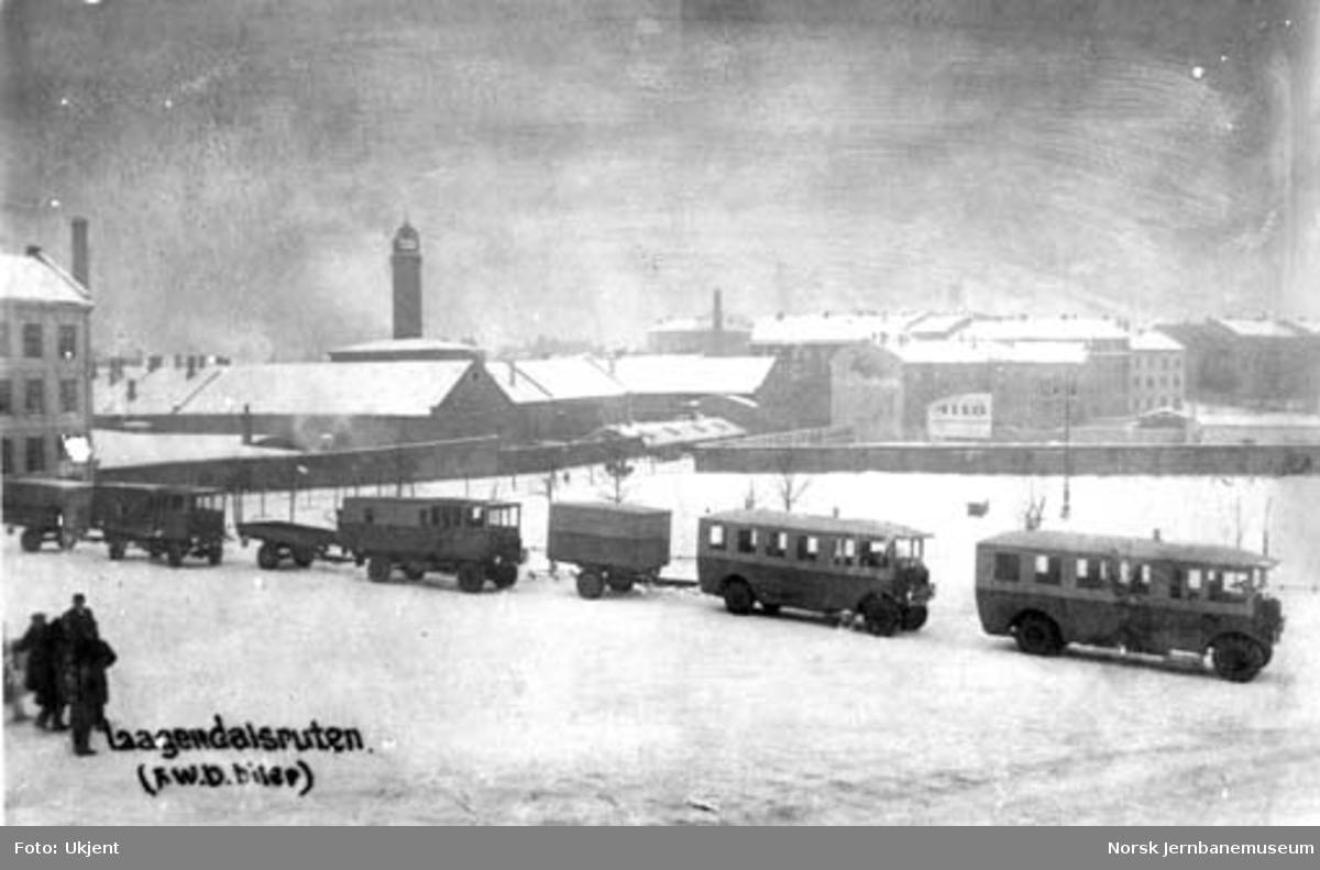 Lågendalsrutens eldste bilmateriell, merke FWD, som nytt