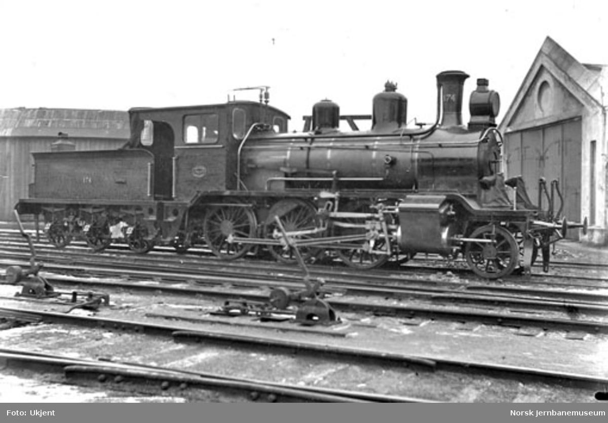 Damplokomotiv type 21a nr. 174 til Bergensbanen