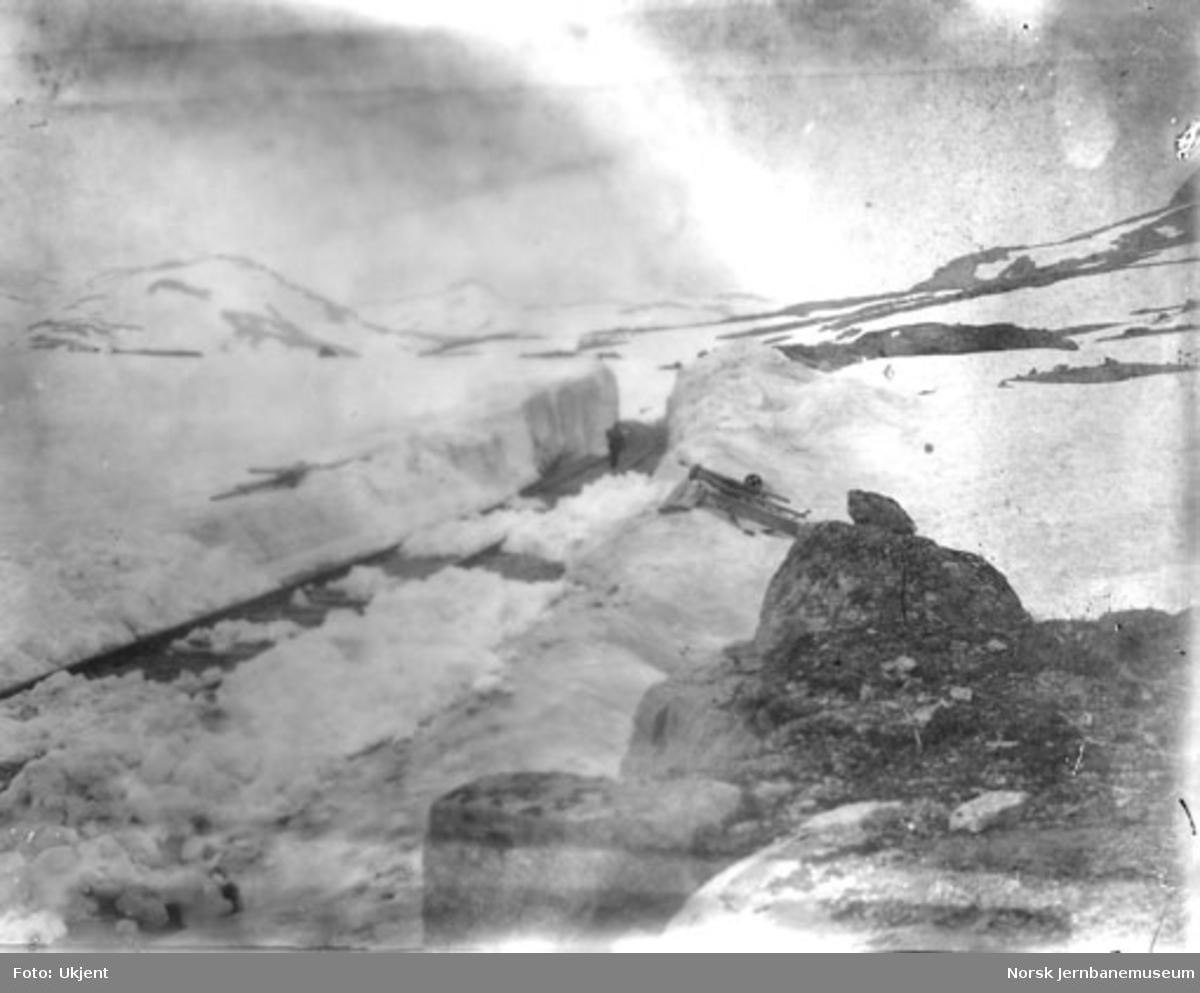 Banen etter snørydding - pel 6780