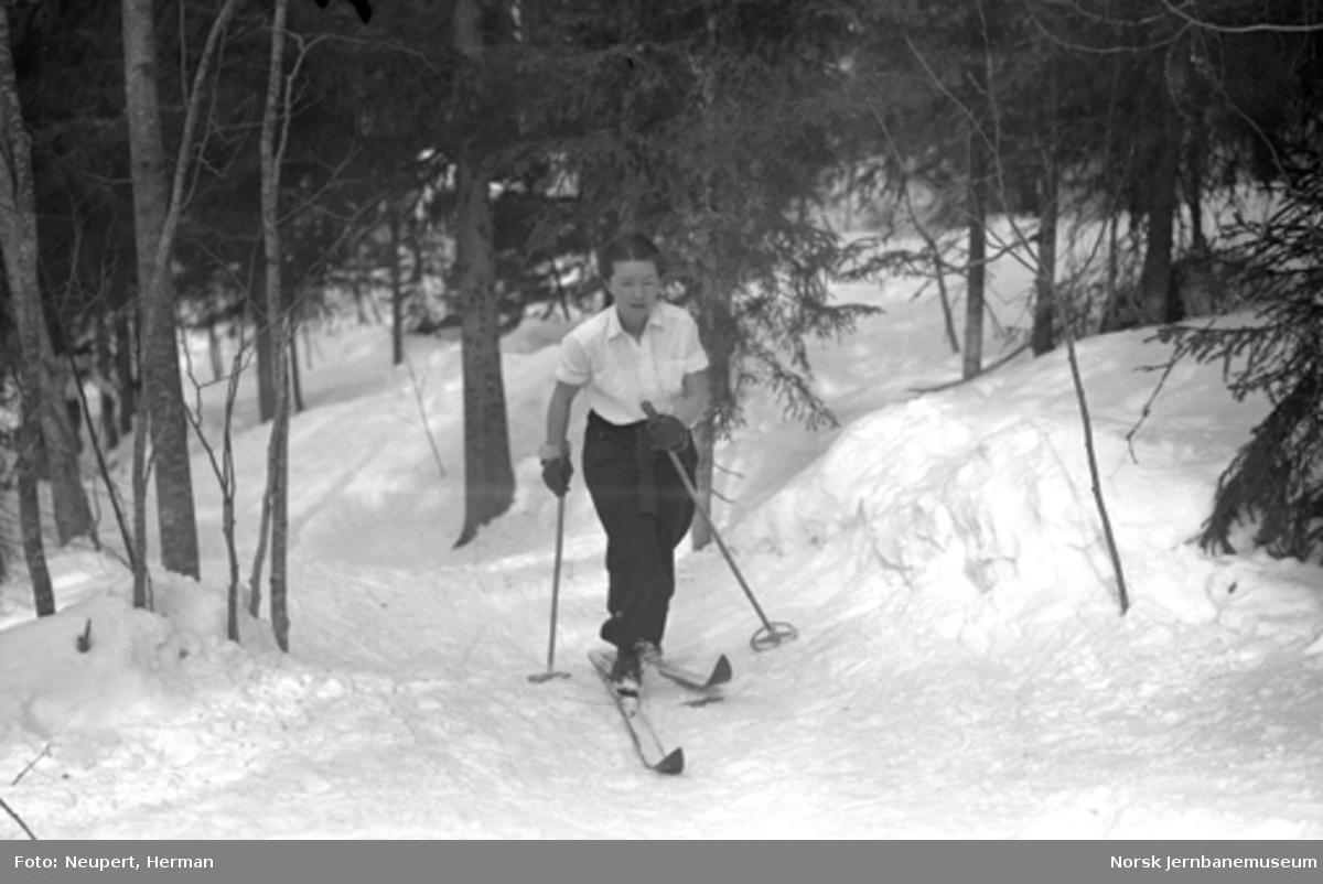Skiløper ved Øysteinstul