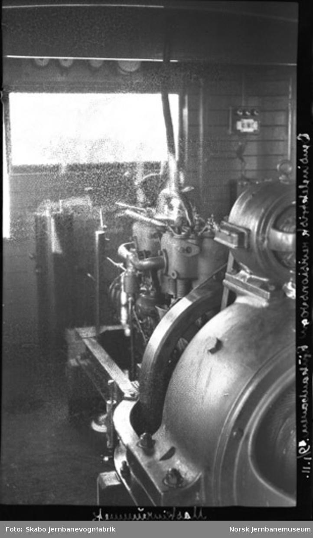 Rjukanbanens bensin-elektriske revisjonsvogn under bygging