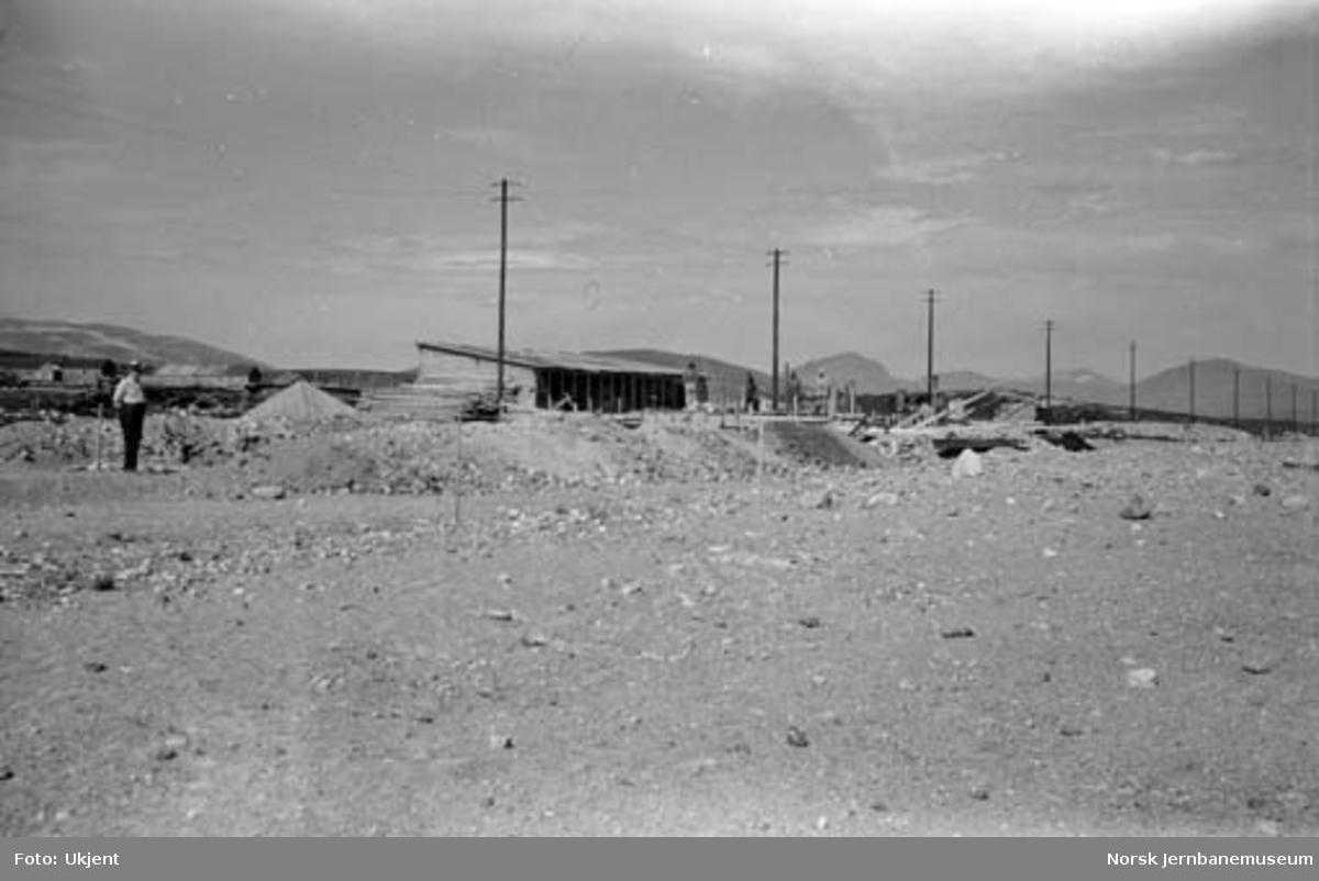 Bygging av Semska (Saltfjell) stasjon