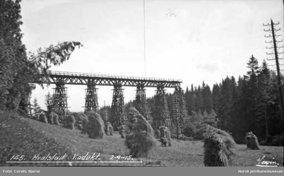 Hvalstad viadukt under riving