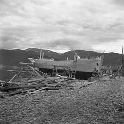 Båtbygging i Østerfjæra på Rognan