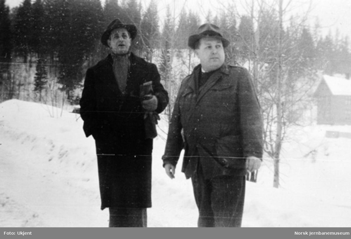 Ingeniørene Eyvind Rian og Olav Strøno