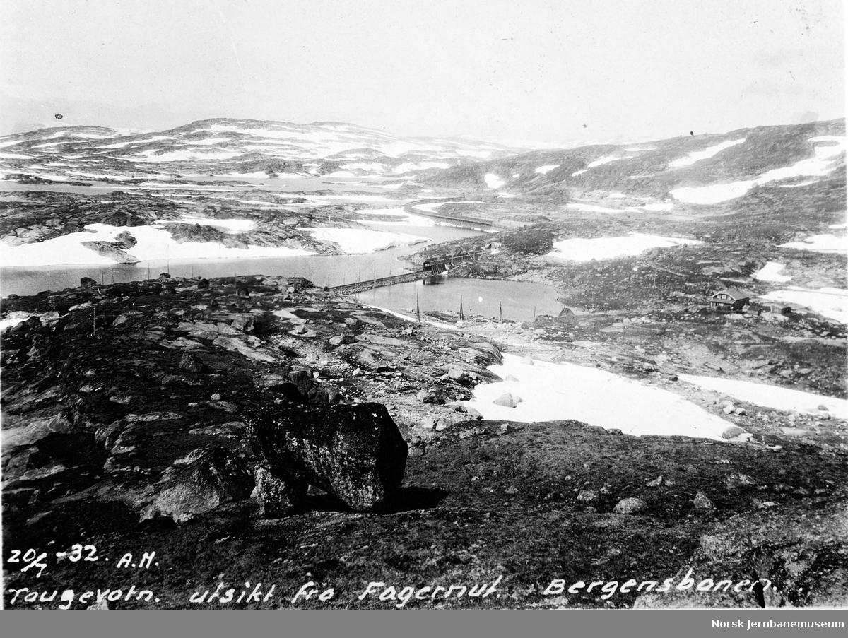 Bergensbanen ved Taugevatn, sett fra Fagernut