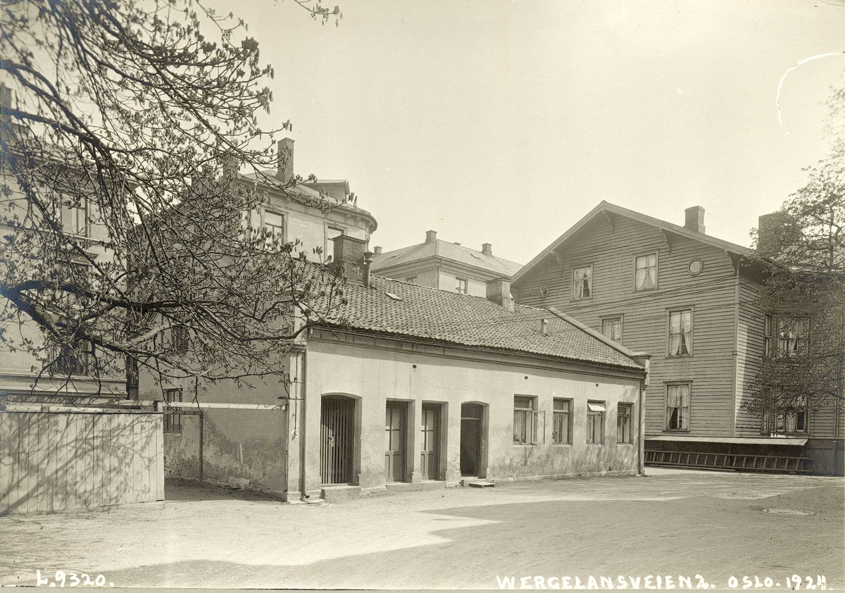 Bebyggelse i Wergelandsveien 2, Oslo.