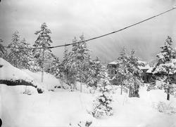 Vinterbilde med våningshuset på Digerud, Frogn, Akershus, 19