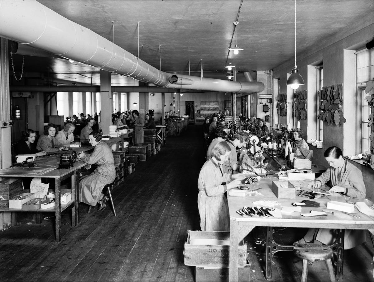 Hästens skofabrik, AB L E Larsson & Co, kvarteret Heimdal, Svartbäcksgatan, Uppsala 1933