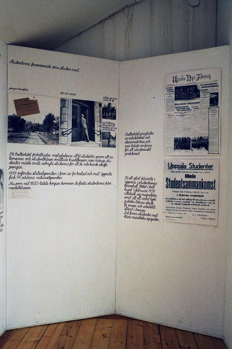 Utställningen Studiosus, student i Uppsala på Upplandsmuseet, Uppsala 1992