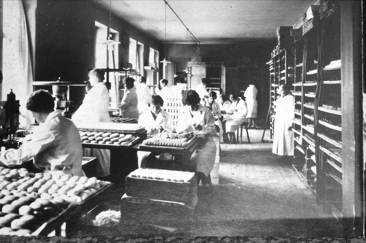 Tvåltillverkning vid Henrik Gahns AB, kvarteret Gudrun, Kålsängsgränd, Uppsala