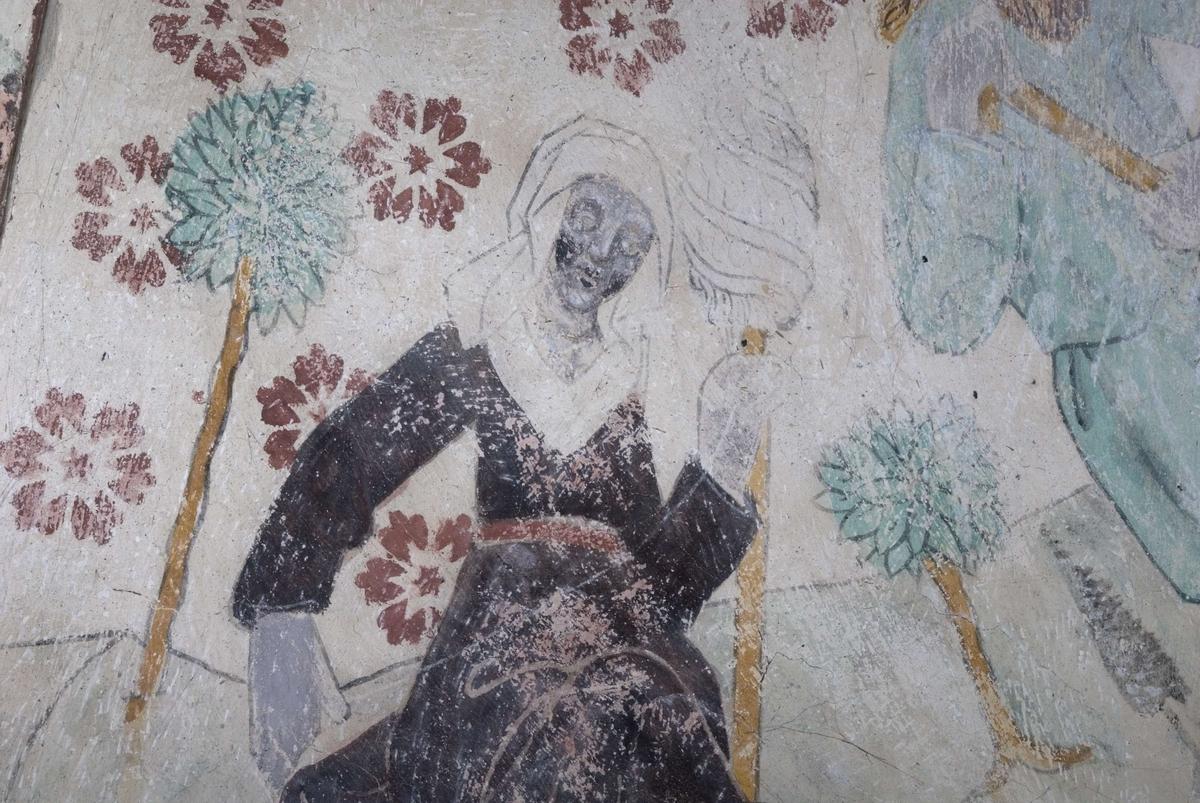 Kalkmålning i Håbo-Tibble kyrka, Uppland 2009