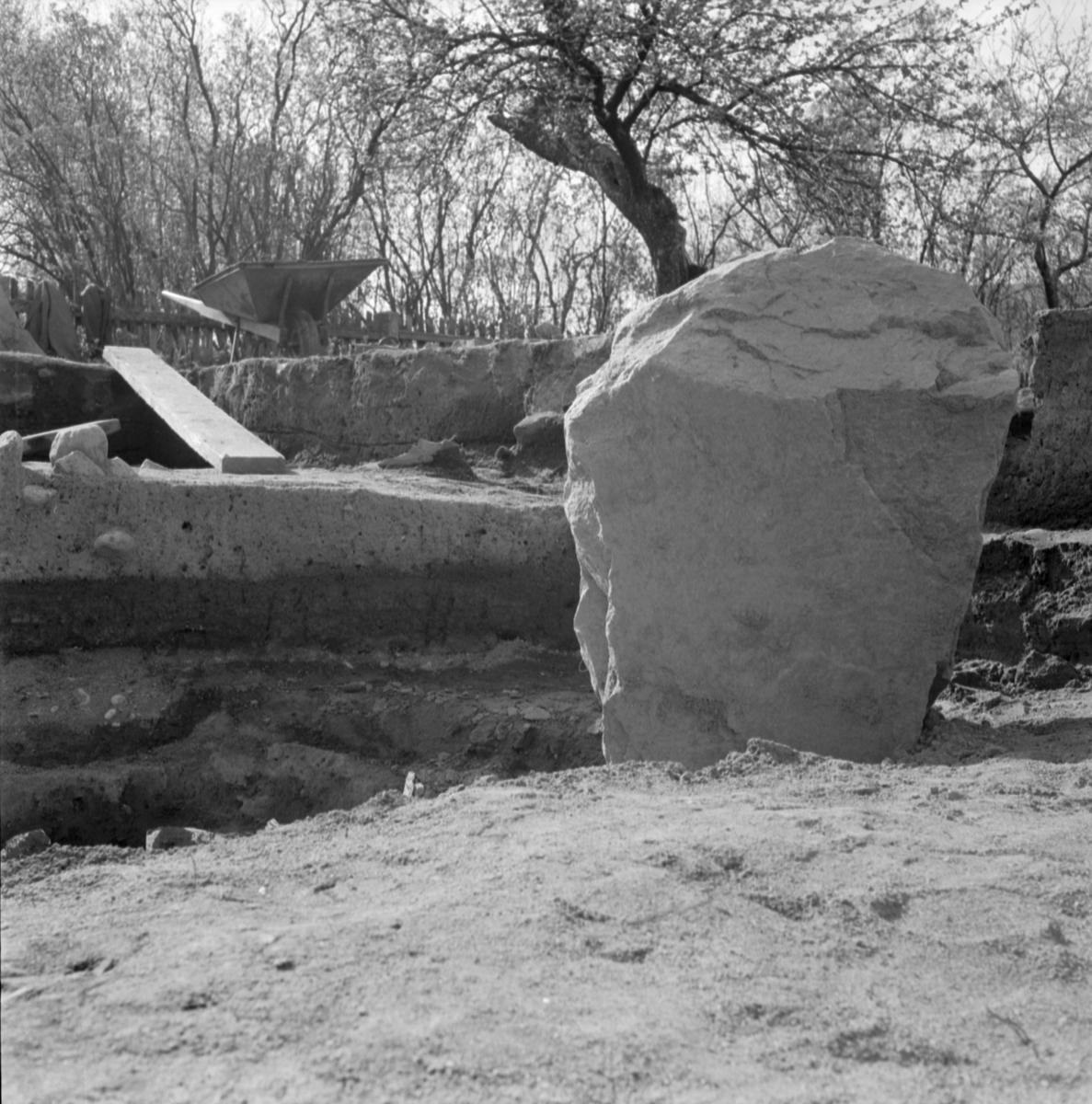 Prästgården, anläggning 1 - Arkeologi Gamla Uppsala 1973