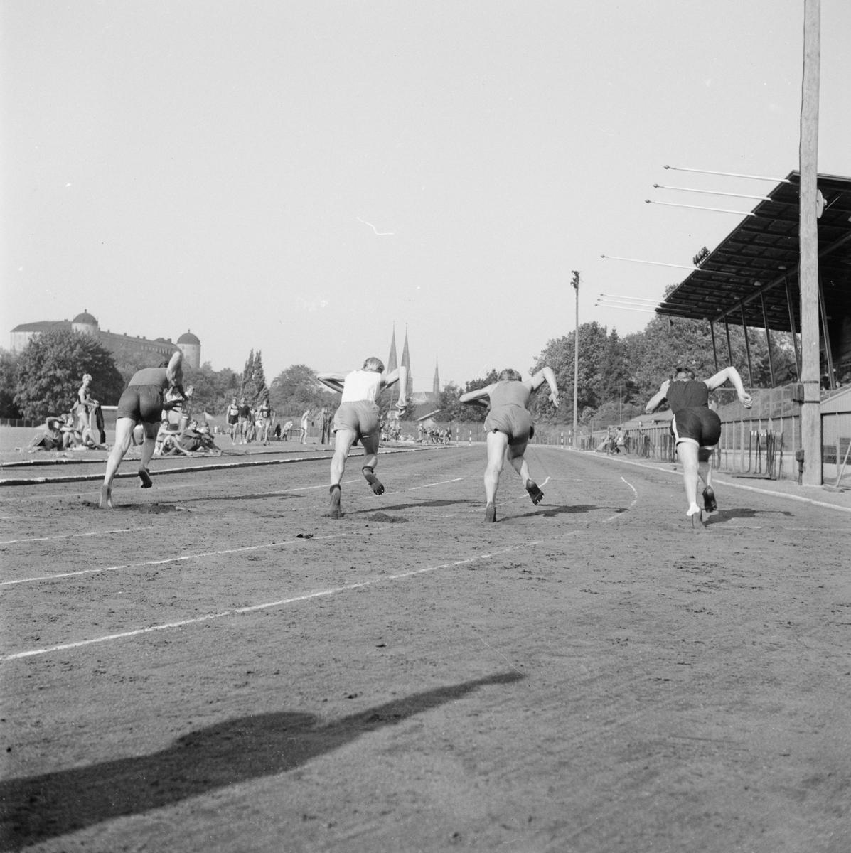 Friidrott skolungdom, Studenternas Idrottsplats, Uppsala, 1948