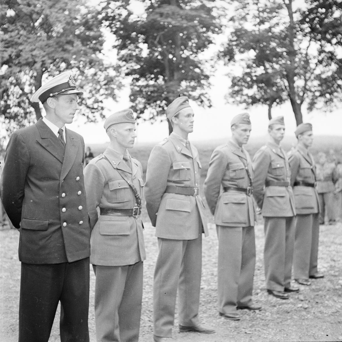 Militär femkamp, Uppsala, 1953