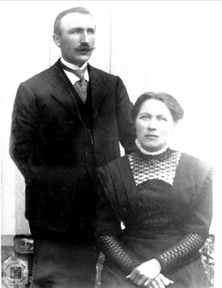 Ekteparet Torjus og Ragnhild Solberg. Bjelland.