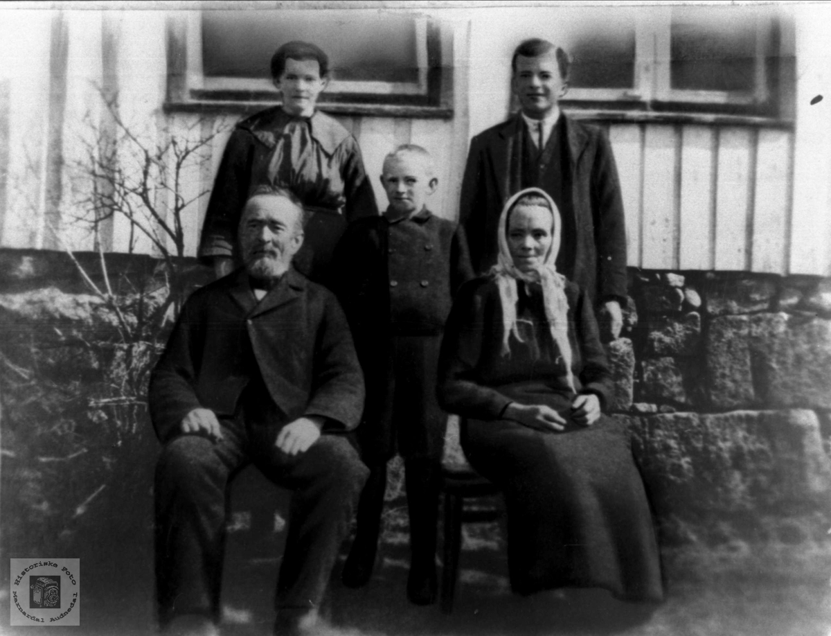 Familiegruppe fra Birkeland, Laudal.