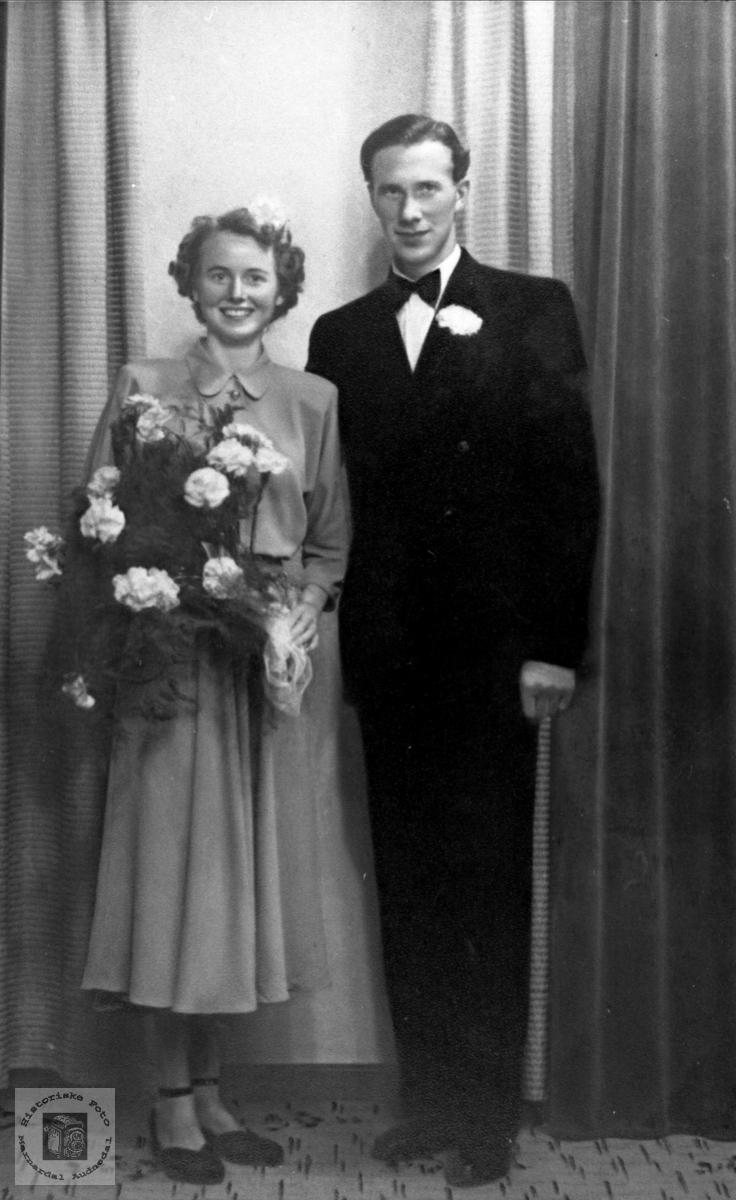 Brudeparet Torveig og Leif Heldal, Øyslebø.