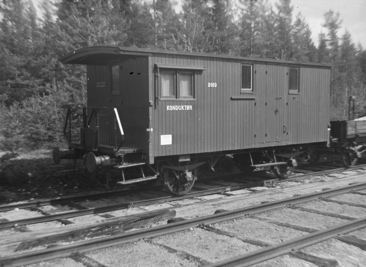 Konduktørvogn F 2019 på Kløftefoss
