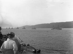 Engelske eskadrens innseiling i Oslofjorden.