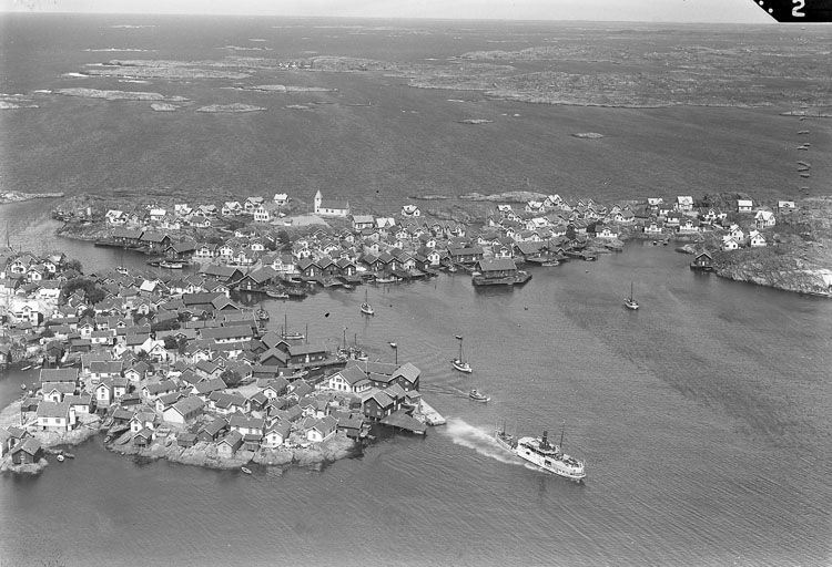 Flygbild Klädesholmen 1938.