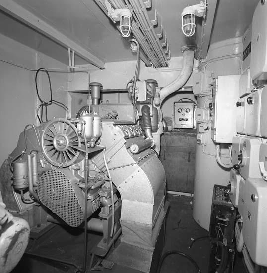 Bilder från maskinrum på fartyg 116-119, troligen från 116 S/S Vorkuta PT 57.