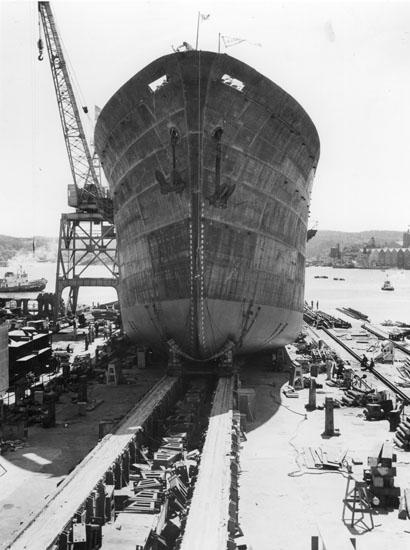 Sjösättning av fartyg 172 M/S Augvald.
