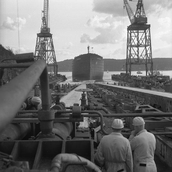 Sjösättning av fartyg 217 OBO Björghav.