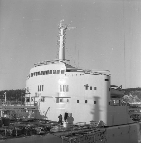 Fartyget 133 T/T Josefina Thordén vid kaj.