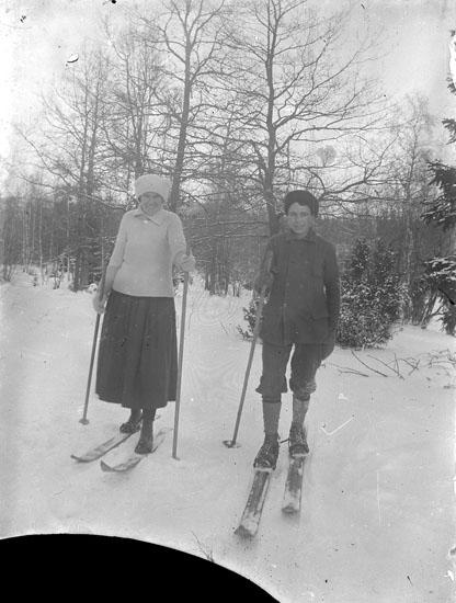 Par som åker skidor