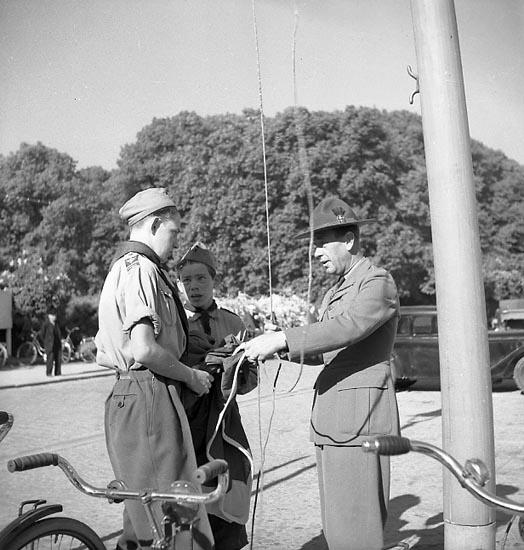 Svenska Flaggans Dag firas i Uddevalla den 6 juni 1950